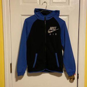 EUC Black and Blue Nike AIR Boys Hoodie
